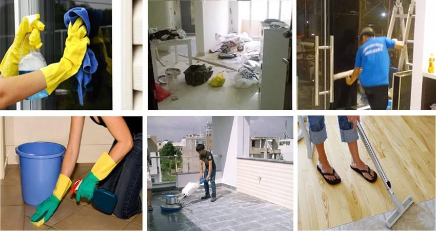Dịch vụ vệ sinh nhà cửa tại quận Tân Phú