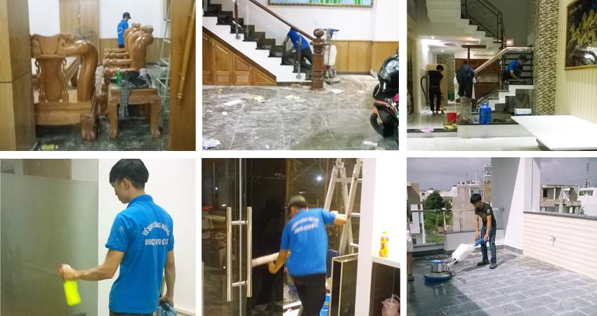 Dịch vụ vệ sinh nhà sau xây dựng tại TPHCM
