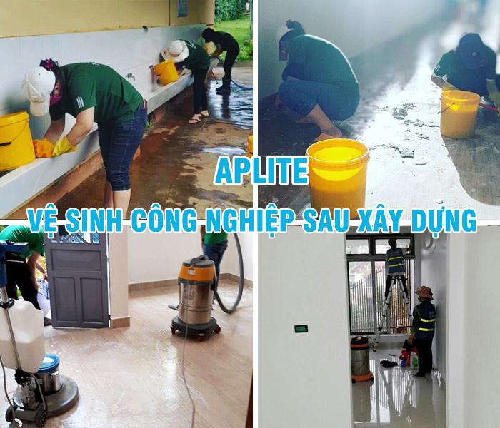 dịch vụ vệ sinh sau xây dựng quận 2